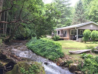 Photo for Gorgeous Creekside Retreat in the Nantahala National Forest