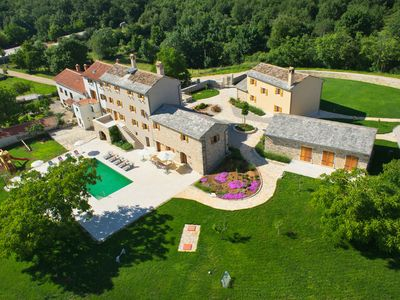 Photo for Villa Poropati, Groznjan – Countryside Estate, kids pool, golf, weddings, events