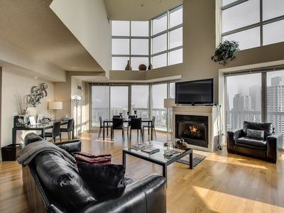 Photo for 55/56th Floor MagMile Penthouse - VIEWS, Fireplace, Balcony, Fitness Center
