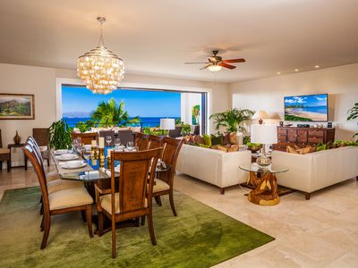 Ocean View Great Room with Indoor Dining for Eight
