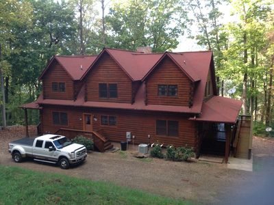 Photo for 'Archer's Lair' Beautiful 7 Bedroom Log Home,game roomHot Tub, Wi-Fi