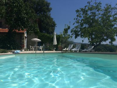 Photo for Country house with pool, huge terrace, figs olives and lavender, fabulous views