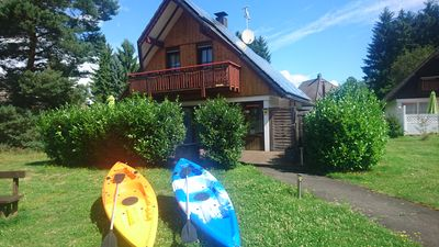 Photo for Holiday house with own POOL + 2 kayaks + at bathing lake + for up to 8 persons
