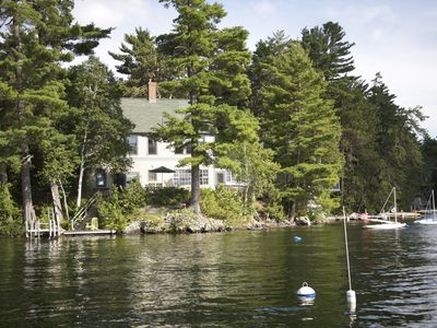 Photo for Lakes Region - Lakefront Home with private dock on Great East Lake - Smoke Free