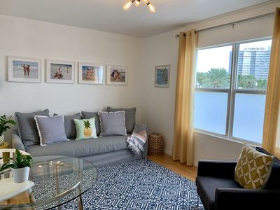 Photo for Great Beach Apartment one block from the beach!