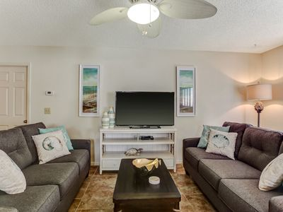 """Photo for """"Cake by the ocean"""" is a beautiful, updated and tastefully appointed condo at Forest Ridge! This 2 story, 3 bedroom, 2 bath unit has been totally remodeled and sleeps up to 6 guests.  Enjoy breakfast on your peacefull balcony."""
