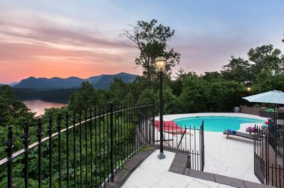 Panoramic Pool Paradise VIEWS  - Enjoy amazing views of Chimney Rock State Park Mountains and beautiful Lake Lure in this amazing vacation rental home on Lake Lure.