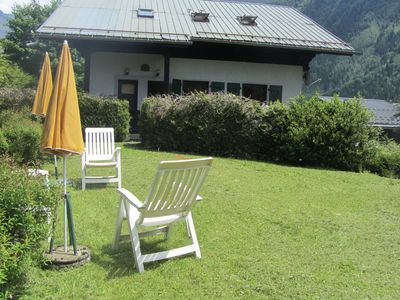 Photo for 2 bedroom, sleeps 5, cozy  apartment in chalet in Chamonix facing Mont Blanc