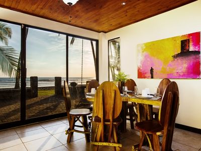 Photo for BEACHFRONT 3 bedroom home in gated community.