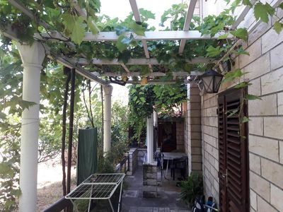 Photo for Studio flat with terrace Cavtat, Dubrovnik (AS-2132-a)