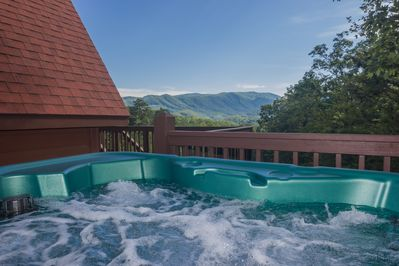 Also new for 2017:  A Nordic 4 person hot tub.  Enjoy the view as you relax.
