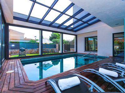 Photo for GIRASOL Villa with private indoor pool and garden