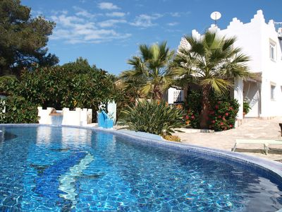 Photo for Holiday house in Cala Pi f. 5 people with pool, sea views
