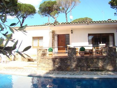 Photo for Club Villamar - Nice house with wifi, lovely garden with children playground, bbq, private swimming pool