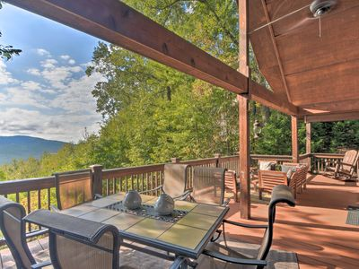 Photo for NEW! Mountaintop Murphy Cabin by Hiwassee River!