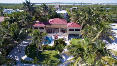 Newly Updated 4 Bed, 4 Bath Beachfront Home with Pool and Sea Hammocks!