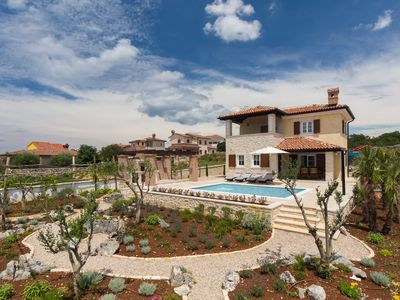 Photo for VILLA SOLE 3 bedroom villa with pool and sea view and Mediterranean garden