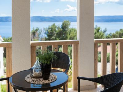 Photo for Modern furnished apartment with panoramic sea views and Wi-Fi
