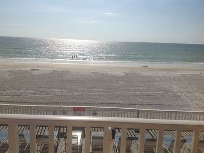 Photo for 2 Bedroom, 2 Bath Ocean View Condo Steps Away From The Beach