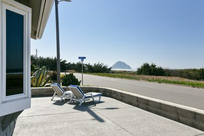 This 3 bdrm, 2 bath home offers amazing ocean and rock views and large patio.