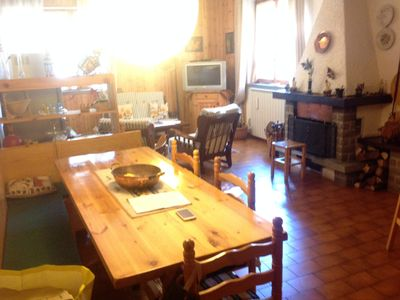 Photo for 65 sqm comfortable apartment. with fireplace and 7 beds in rustic style.