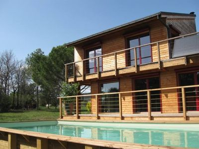 Photo for contemporary house wood in a natural conservation area