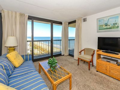 Photo for Nice, comfortable 2 bedroom oceanfront condo with free WiFi and a beautiful ocean view with amazing amenities including two pools and a game room!