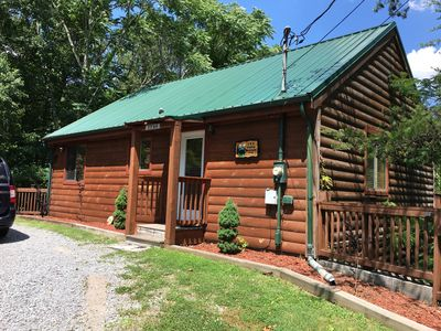 The front of the cabin just doesn't show what's in store for you inside!