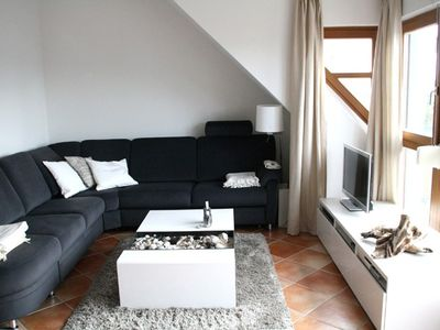 Photo for 2 1/2 Zi.- duplex f. 3 Pers. with west facing balcony, overlooking the water u. Sauna use