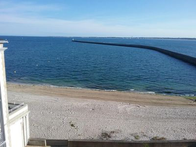 Photo for APARTMENT ON THE BEACH 4/6 PERSONS FULL SEA VIEW 2 TERRACES AND SWIMMING POOL