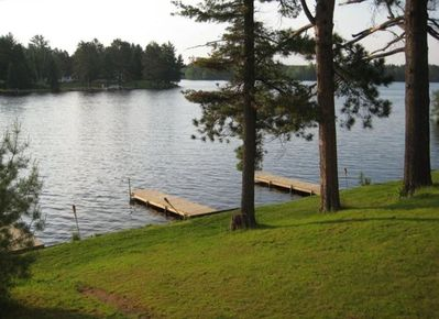 3 docks and a view of Beautiful Lake Alice