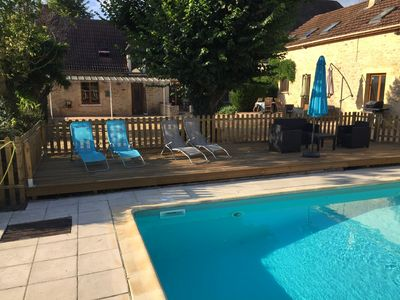 Photo for Lovely gite with own pool and fantastic views - 15 mins from Sarlat