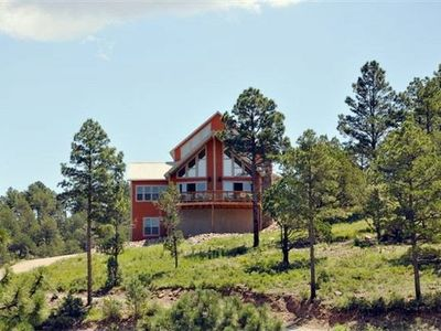 Photo for Spectacular panoramic mtn views from this majestic 3 acre luxury chalet retreat
