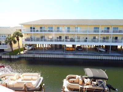 Photo for Condo #2044 has views of the canal and watch the boats pass by!