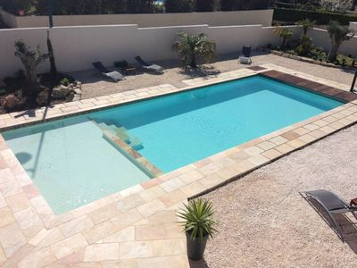 Photo for villa mouth-of-the-rhone aix en provence heated pool House with garden