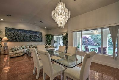 Retreat to this 3-bed, 2.5-bath vacation rental house after a day in La Quinta!