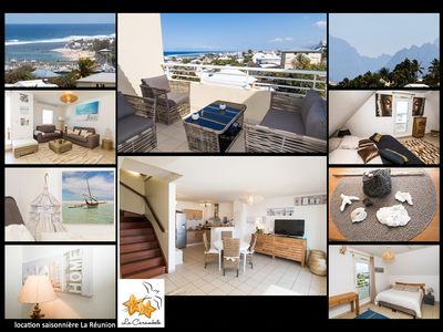 Photo for Nice duplex apartment with sea and mountains view, terrace and lift
