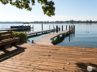 Photo for Boater's Dream: 4 BR home with lake frontage down the road (sleeps 12)
