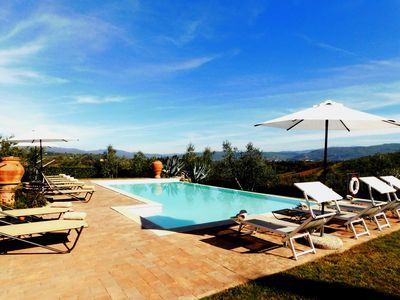 Photo for Spectacular Villa with Large Private Pool, 8 km south of Florence City, Tuscany