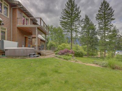 Photo for Dog-friendly home w/ private sauna, hot tub, & huge deck w/ views of the Gorge