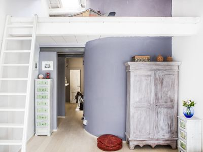 Photo for Cute and bright Oriuolo loft in Florence