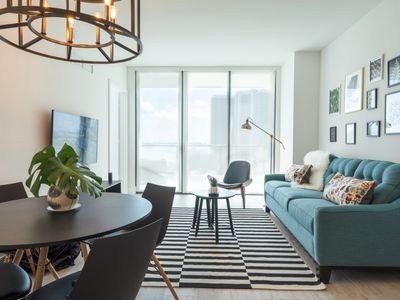 Photo for BRAND NEW! Luxury 1BR+Den Miami Condo w/Beautiful Bay and City Views!