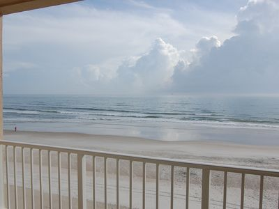 Photo for Ponce Inlet Oceanfront with Private Balcony, No-Drive Beach, Newly Renovated