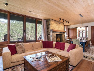 Photo for Exquisite Custom Mountain Home w/ Fireplace, Walk to Gold Medal Fishing Waters!
