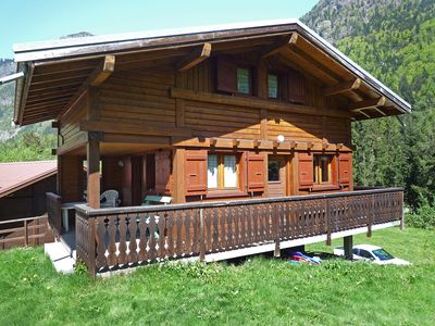 Photo for This 2-bedroom villa for up to 6 guests is located in Les Houches and has a private swimming pool an