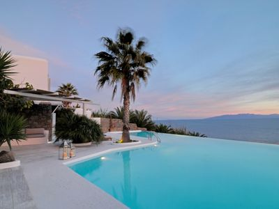 Photo for Amazing Villa Maris Mykonos, with Private Pool and Private Bay 4 BR 4 BATHR Up to 8 Guests