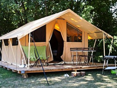 Photo for Camping Huttopia Douarnenez *** - Classic IV Wood & Canvas Tent 4 People