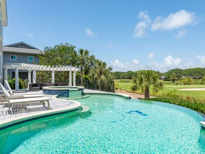 Photo for Fabulous Infinity Pooll! Golf & Ocean Views! Beautiful home - walk to beach!