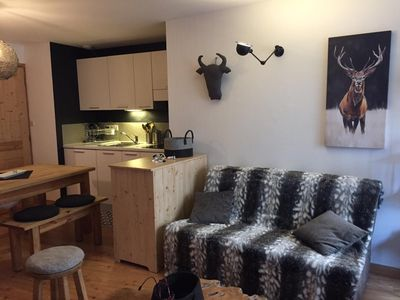 Photo for Character apartment in chalet at the foot of the slopes at Serre Chevalier 1400