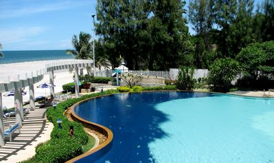 Photo for Direct Beach Access in downtown Hua Hin, 2-Bedroom fully furnished